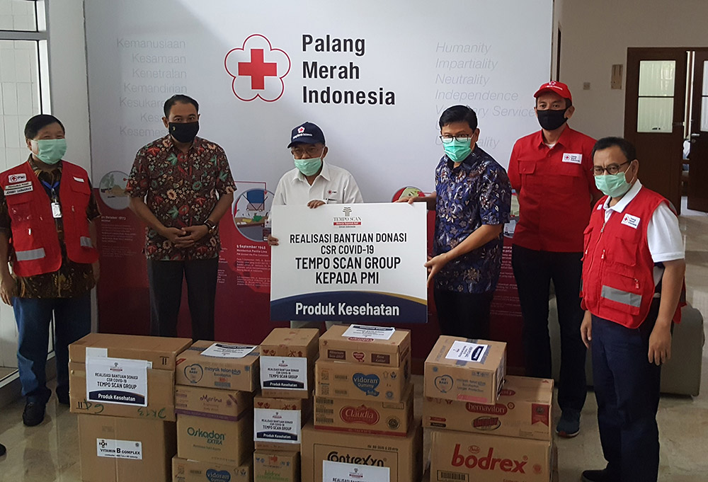 Realisasi Bantuan Donasi CSR COVID-19 Tempo Scan Group Untuk Masyarakat Melalui PMI & Lembaga Sosial